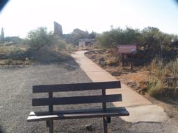There is a seat at the car park by the start of the trail.