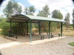 A shelter with seats is also available by the car park.
