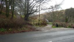 After passing the Exmoor Forest Inn, the path reaches Pound Cottage (100m down the hill) opposite which there is access to two footpaths.