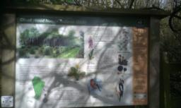 Interpretation board detailing more information about the nature reserve