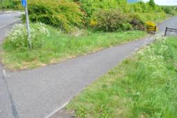 Trail joins the Sustrans National Cycling route. 