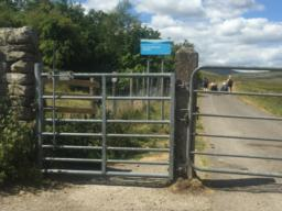 There are some gates on the route, this gate opens towards the user.