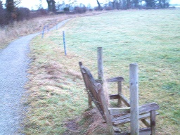 There are seven seats around this trail but in January 2009 only three are useable. This is one of the broken seats.