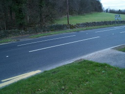 Drop kerbs are available at the crossing point on Hill Foots Road.