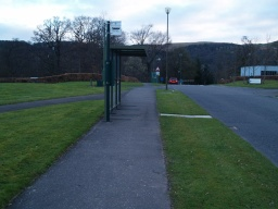 Some buses go through the campus and can provide closer access to the lochside trail.
