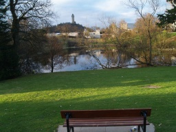 This seat gives a good view of the Wallace Monument.