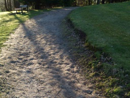 The dried surface has become very uneven and could be muddy after wet weather.