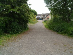 There is a path that leads up to the old windmill/dovecote