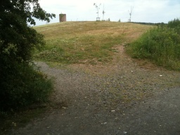 The surface of the path to the windmill/dovecote is uneven in some places