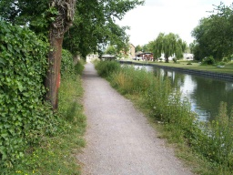 There is a short section (100m) before Stanstead Lock where the path surface is a little loose and uneven.