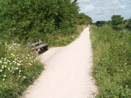 There are two seats available between Stanstead Lock and the bridge to the nature reserve