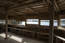 Good views across Great Hardmead Lake  and over the reed beds are available from the windows which are set at different levels to meet all needs. Movable benches and space for wheelchair users make the hide very accessible.