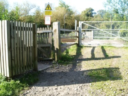 The gates to the level crossiong are not very accessible and may prove difficult for some people
