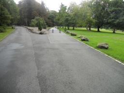 Follow the right-hand fork and continue towards the the Moss O Balloch car park