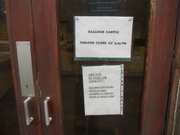 Toilets are available at Balloch Casle, but note that the building may be closed when you visit.