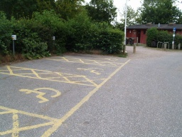 The walk starts from the car park for Haysden Country Park. There are three disabled parking bays in the main car park.