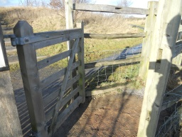The enclosure measures 1000mm wide from post-to-post and 1000mm from the edge of the gate to the back of the enclosure.