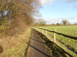 The path width is reduced by encroaching vegetation and averages 1000mm.