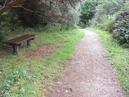 The seat is 1.7m from the path