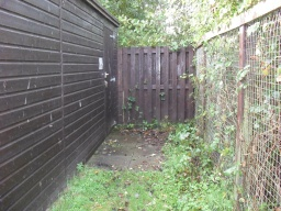 The entrance to the bird hide - it is necessary to get a key from the Fife rangers to access the hide