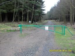 The barrier at the start and finish of this trail is likely to be locked but there is a gap to the side of it.