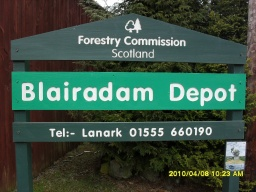 The BlairenbathieTrail starts from the car park next to the Forestry Commission for Scotland's Blairadam depot at Ordnance Survey Grid Reference NT129 946