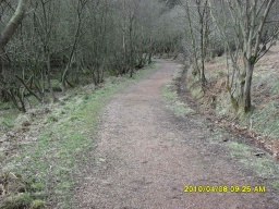 There are some places where there is a lose covering of small stones on the surface of the path.