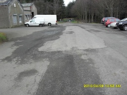 The trail starts by going through the green barrier at bottom of the car park.