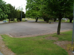 The first car park area gives a more level access to the pedestrian entrance to the park.