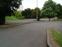 The second car park is a ta lower level and has an 8% (1:12) gradient to the pedestrian entrance to the park.