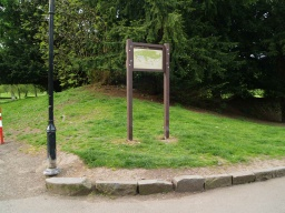There is an information board by the entrance to the park.