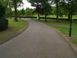 The path is wide enough for two people to walk side by side all the way along.