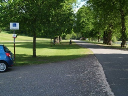 There are a few disabled parkng bays close to the house which also serve this trail.
