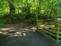 Follow the path round to the left then go right round the wooden fence.