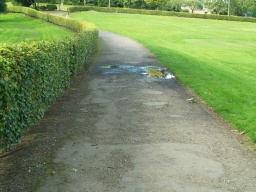 There may be puddles on uneven sections of the path after wet weather.