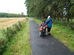 The path has a solid tarmac surface and is level all along its length
