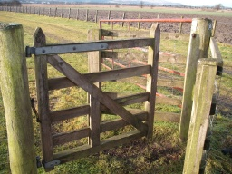 The kissing gate has a gap only 340mm wide at most.