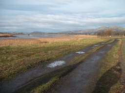 There are views along the Forth to Stirling Castle and the Wallace Monument.