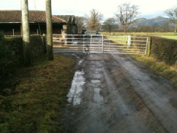 The gates by the farm are usually open except when sheep or cattle are being moved.
