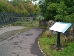 The entrance to the wood has an information board giving details of paths in the area.