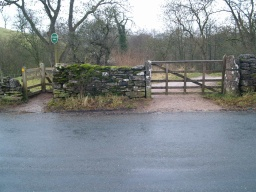 There is no formal car park. Cars can be left in the roads nearby. The start of the trail is about 1Km south of Kirkby Stephen on the B6359 at Ordnance Survey Grid Reference  NY772074.There are two gates at the entrance. The kissing gate has a width of 850mm but a restricted clearance of 350mm.