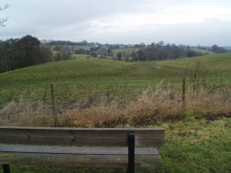 The seats provide attractive views of the adjoining countryside.