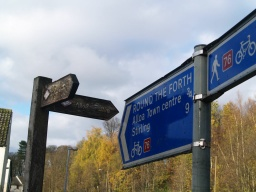 At the end of the trail there are signs directing you towards Alloa.
