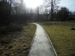 The path in Little Mill Field narrows to 1.2 metres.