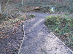 The path now enters Boathouse Wood.