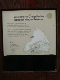 Information about the reserve is available just after the underpass.