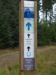 The path is part of the Lakeside Way. Turn right towards Bull Crag Car Park