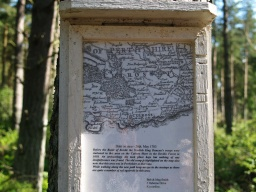Some of the signs provided information on the history of the area.