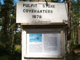 The pulpit stone is another feature of interest with an accompanying information board.