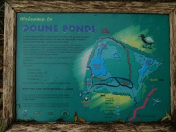 There is an information board by the entrance gate giving details of the Doune Ponds nature reserve and its trails.